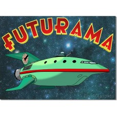 Futurama Planet Express Delivery Spaceship Poster - A4 Size