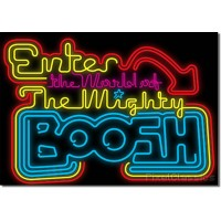 The Mighty Boosh Poster 'Enter The World Of' Neon Light Sign Artwork A4 Size